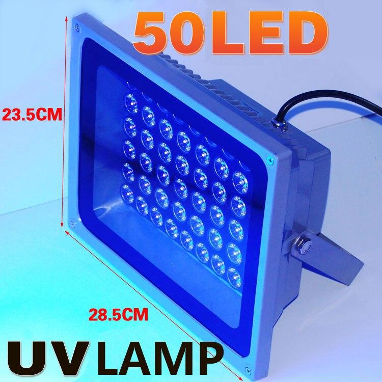 50LED 395nm В 220 В УФ лампа УФ клей краска отверждения лампа УФ свет УФ клей отверждения фосфор облученный