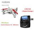 Hubsan x4 h107d 4ch 2.4g câmera fpv drone eixos quadrocopter rc toys rtf helicóptero fotografia aérea vídeo f08562