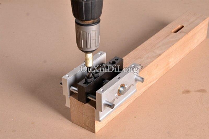 Купить с кэшбэком 1PCS Self-Centering Dowel Jig Dowelling Jig High Precision CNC Machining With 3 Metric Drill Sizes(6mm,8mm,10mm) JF1657