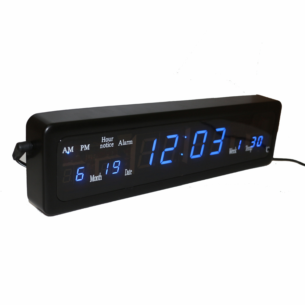 Wall clock digital display hourly chime desk electronic alarm clock digital led wall clock amipublicfo Images