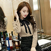 2018 Spring Fashion New Fashions Women S Wear Korean Version Bow Tie Lace Cardigan Long Sleeves