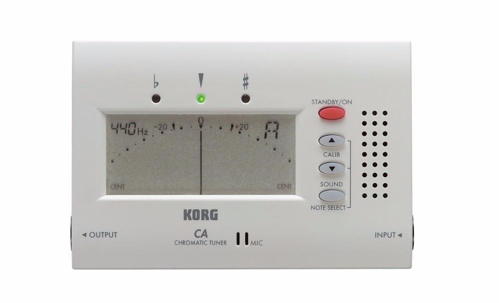 El afinador cromático electrónico Korg CA-40 con pantalla grande se puede usar para instrumentos de viento, guitarra, ukelele y piano.