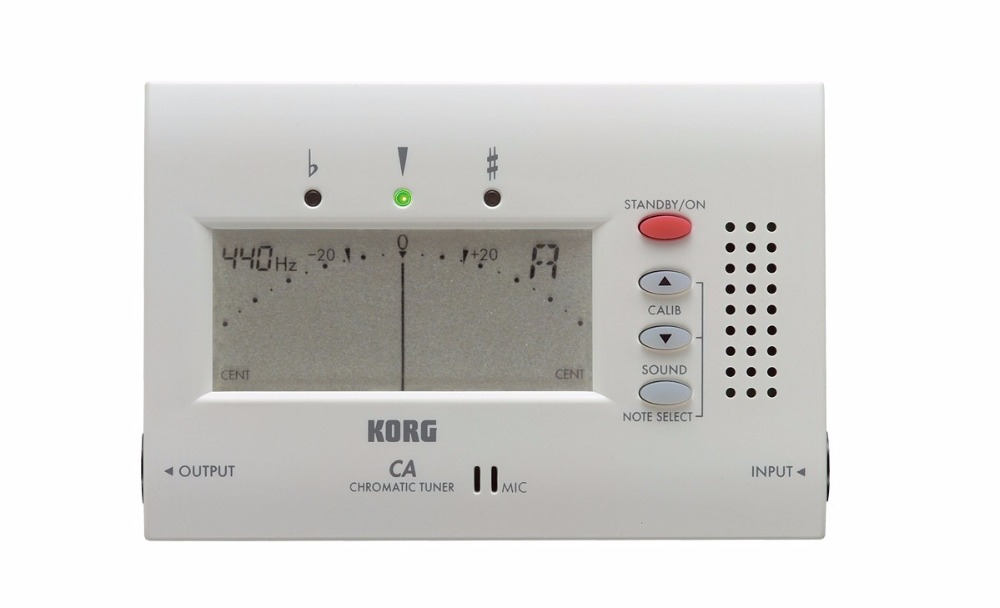 Korg CA-40 מקלט כרומטי אלקטרוני עם תצוגה גדולה יכול לשמש עבור כלי נשיפה, גיטרה, Ukulele ופסנתר