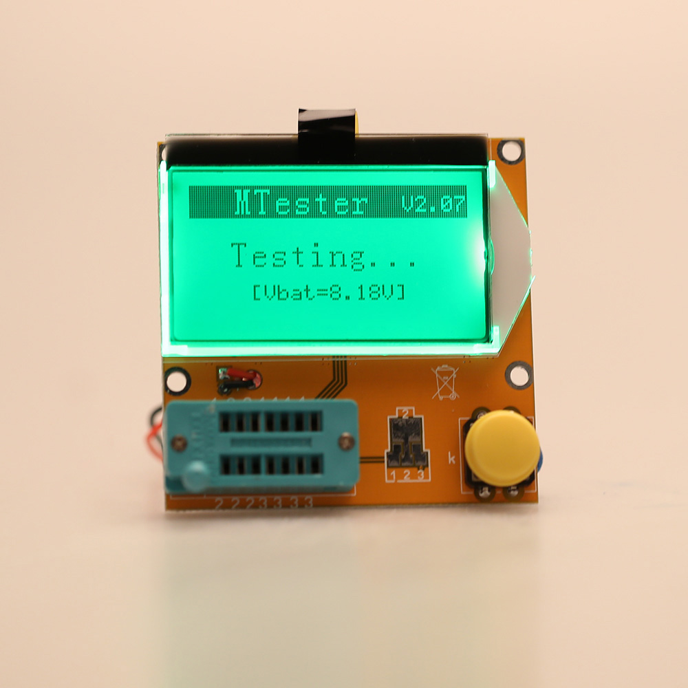 Multi-functional LCD Backlight Transistor Tester Diode Triode Capacitance ESR Meter MOS PNP NPN LCR