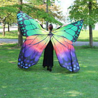 2017 New Design Belly Dance Butterfly Isis Wings Multi Color 360 Degree Dancing Wings Belly Dance