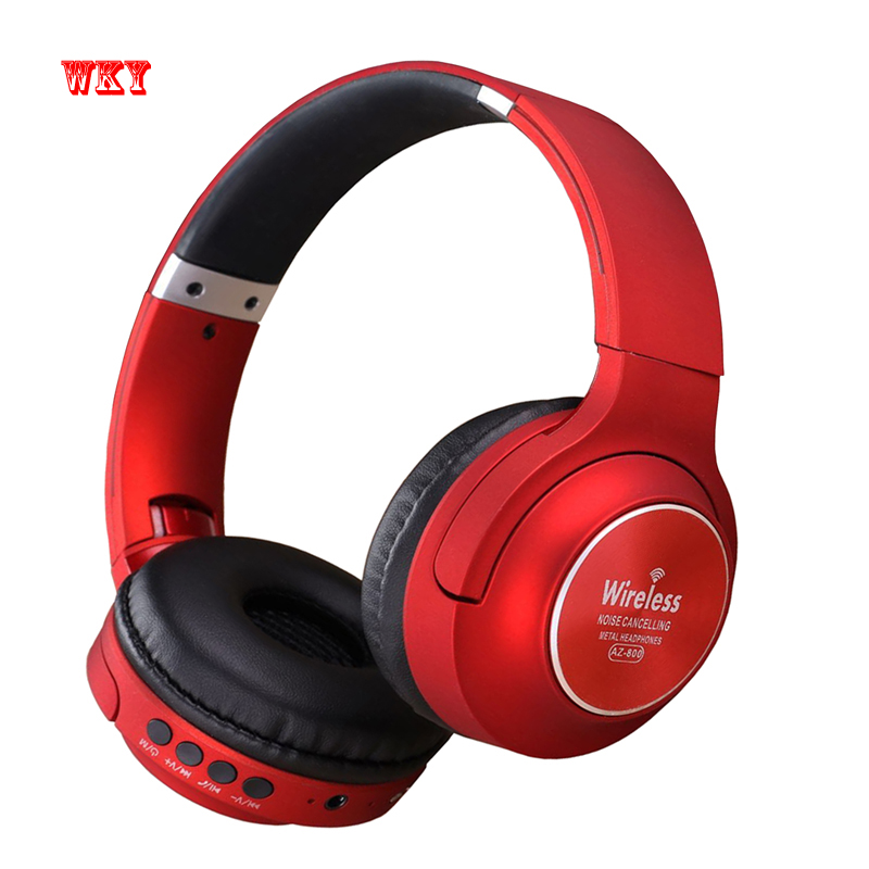 WKY High Quality Low Price Bluetooth 4.2 HD Stereo Headphones Wireless Active Noise Cancelling Headset Support TF Card with Mic