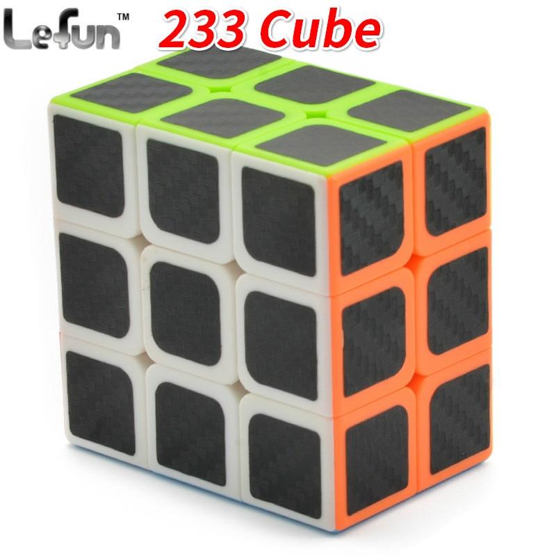 Lefun 2x3x3 Magico Cubo Stickerless Black Carton Fibre Sticker Speed Puzzle Cube Kids Educational Toys For Children 233 Cube