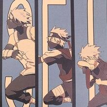 Cravate LER Vintage bande dessinée Anime Naruto affiche Bar enfants chambre décor à la maison bande dessinée Naruto rétro Kraft papier peinture 50.5x35cm