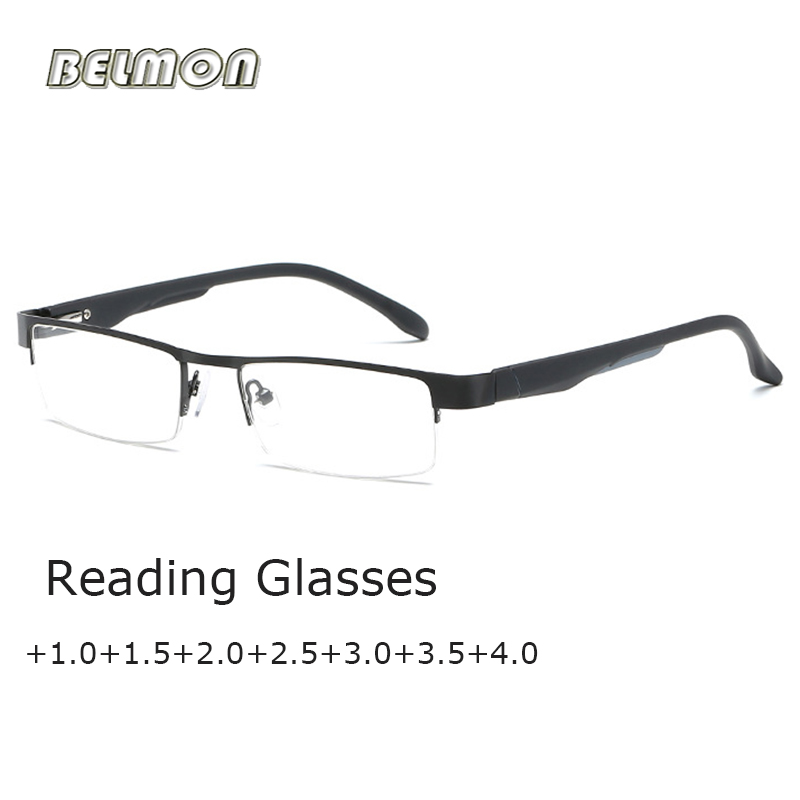 Belmon Reading Glasses Men Diopter Presbyopic Eyeglasses Degree Eyewear For Male +1.0+1.5+2.0+2.5+3.0+3.5 RS778