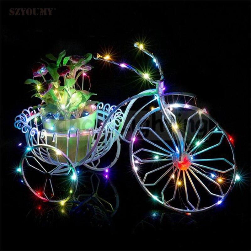 SZYOUMY декор Күміс сым LED 3M мыс сым 3 AA - Мерекелік жарықтандыру - фото 5