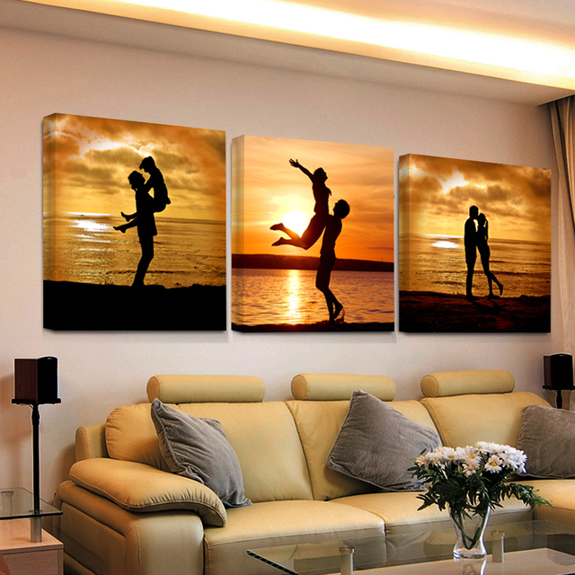 2017 Wall Art Canvas Prints World Map Picture Bedroom Living Room Schilderijen Modern Triptych Painting Vintage