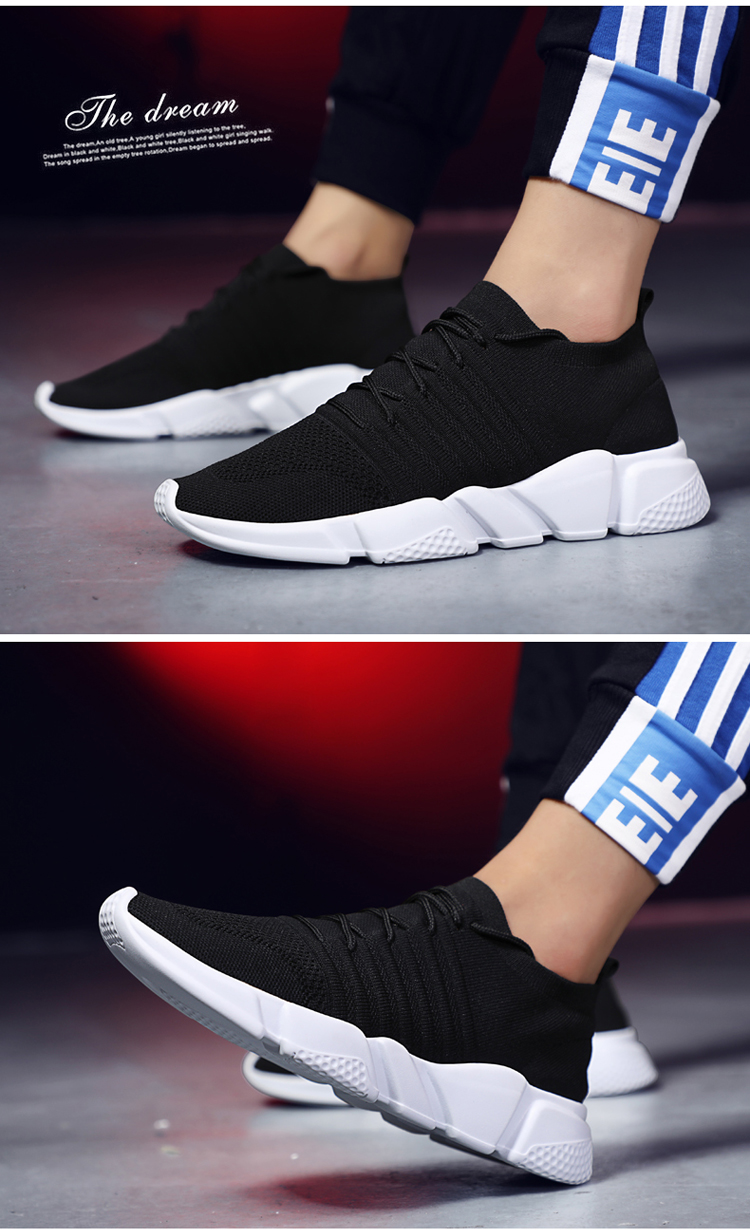 HTB13XfDIQOWBuNjSsppq6xPgpXay - Men Sneakers Lightweight Flykint Casual Shoes Men Slip On Walking Socks Shoes Trainers Mesh Flat Homme Big Size Tenis Masculino