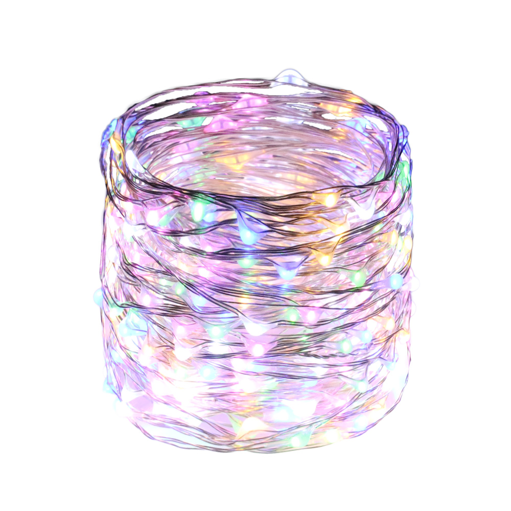 15M/49FT 300LED Silver Wires LED Fairy Lights Decorative Party Christmas Halloween String Lights + Adapter(EU,UK,US,AU Plug)