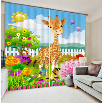 2017 Luxury Cartoon 3D Blackout Window Curtains For Kids Bedding room Living room Hotel Drapes Cortinas