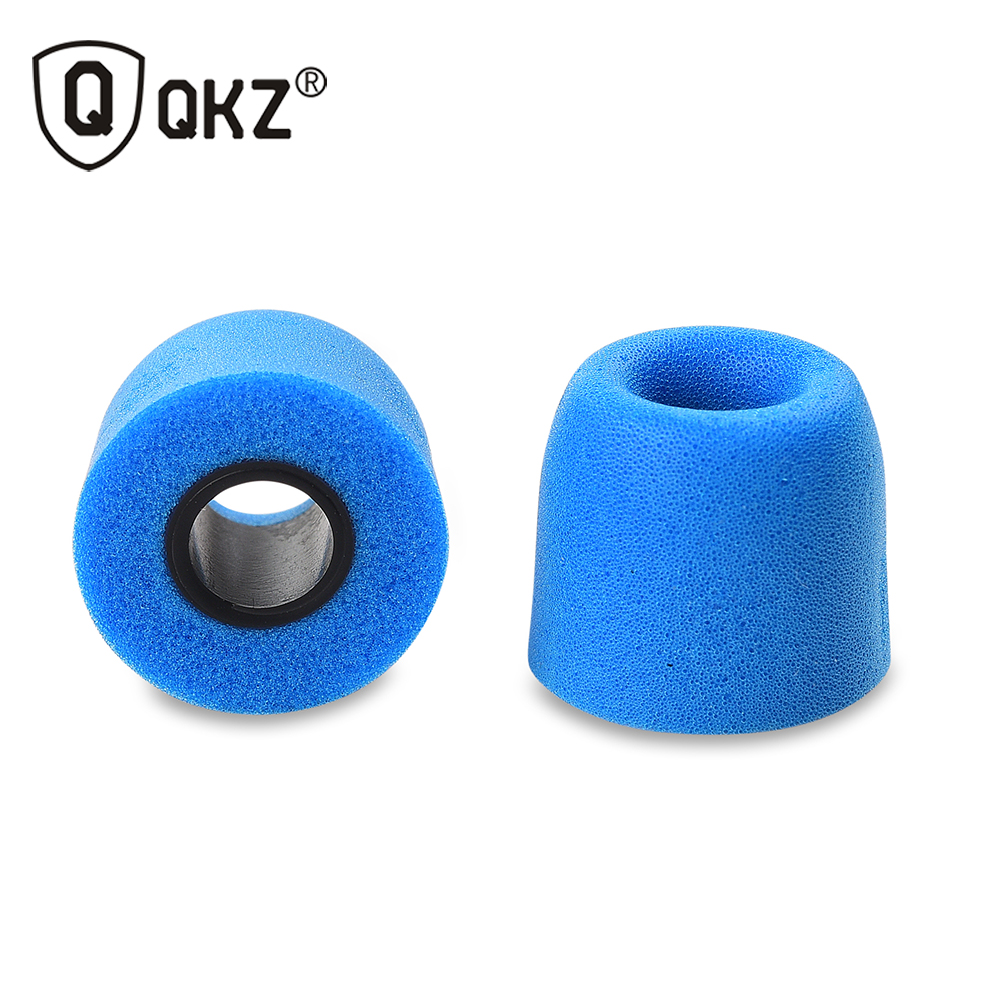 Memory Foam Earphone tips 10 pcs QKZ Original 5 Pairs Colors T400 foam tips Ear Pads for all in ear earphone headset headphone ak 4 pairs 8pcs kz noise isolating memory foam c sets 3mm 5mm t100 t400 ear tips for in ear earphone earbud