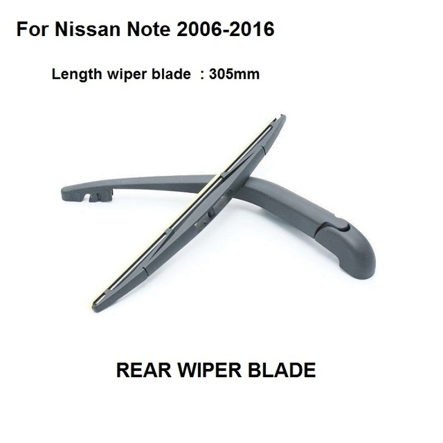 305mm Rear Window Wiper Windshiel + Hoja Brazo Para NISSAN NOTE 2006-2016