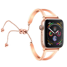 Mulheres Pulseira Banda cinta Para O Relógio Maçã 4 44mm 40mm iwatch série 4 Ajustável Aço Inoxidável Pingente liga wristblet