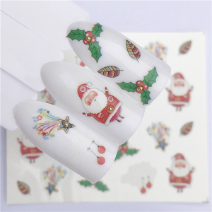 Image 4 - YZWLE 1 Sheet Winter Snowflake Full Wraps Nail Art Water Transfer Stickers Christmas Style Manicure Decal DIY