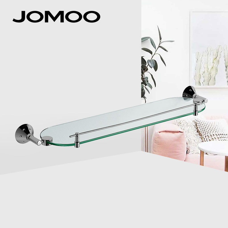 Bathroom Shelves Jomoo Bathroom Accessories Shelf Roll Paper Holder Stainless Steel Repeatedly Washable Stick Hooks Rack Bathroom Storage Accesso