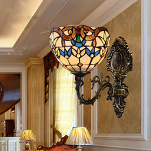 European style bedroom bedside lamp wall lamp warm double aisle lighting living room lamp LED lamp lamp corridor study недорого