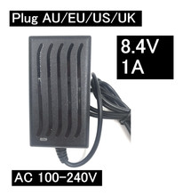 8.4V 7.4V 1A 18650 Lithium battery charger 5.5mm*2.1 Portable Charger EU/AU/US/UK Plug