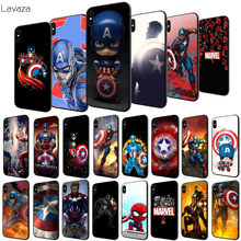 Lavaza Captain America Soft Case for Apple iPhone 6 6S 7 8 Plus 5 5S SE X XS MAX XR TPU Cover