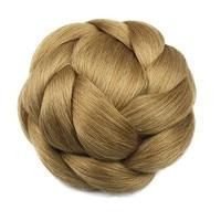 Soloowigs Heat Resistant Fiber Black Light Brown Blonde Women Synthetic Hair Buns Clip In Chignons