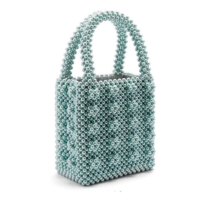 Women Pearl Bag Luxury Handbags 2018 Fashion Female Evening Beaded Bag