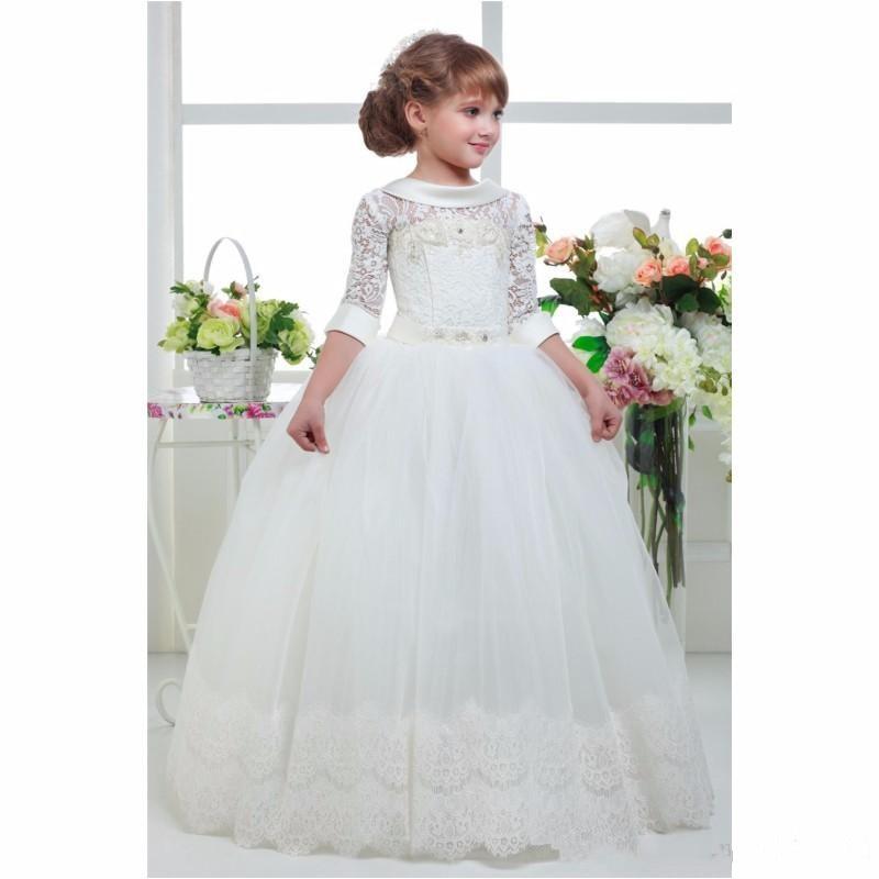 Tříčtvrteční rukávy Zvláštní příležitost Šaty - Dětské oblečení - Fotografie 2