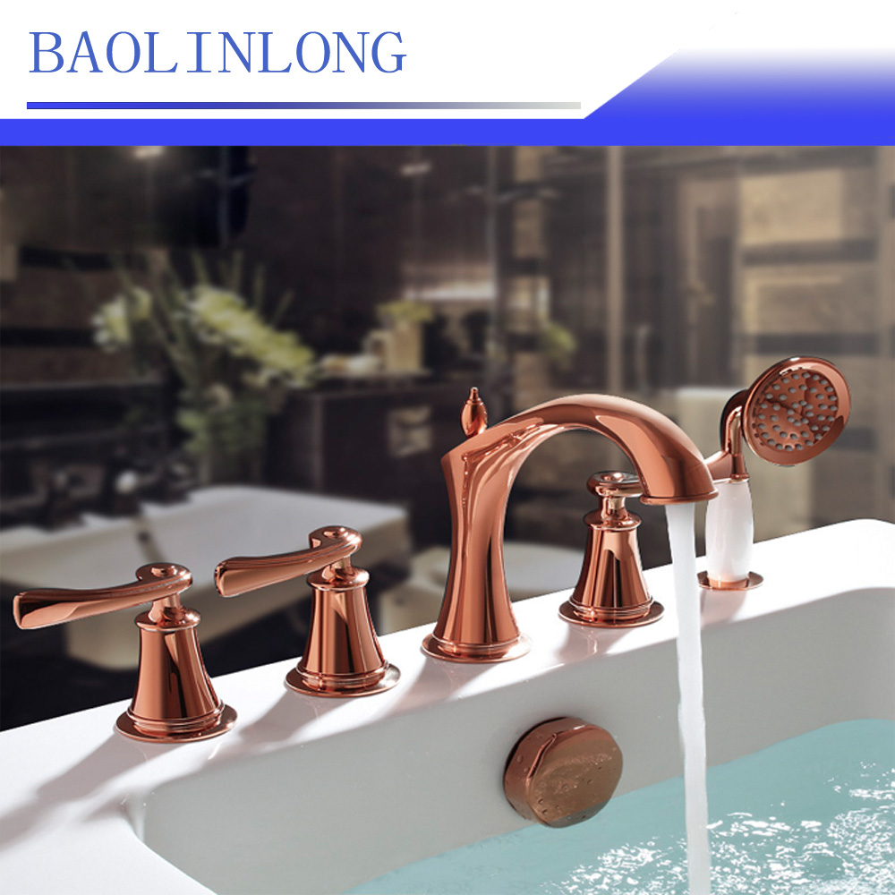 BAOLINLONG Classic Styling Brass bathroom shower faucet Bathtub Faucet tap bath shower set waterfall bathtub sink faucet water baolinlong classic styling brass bathroom shower faucet bathtub faucet tap bath shower set waterfall bathtub sink faucet water