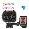 Frete grátis!! Original SOOCOO S70 Wi-fi 2 K NTK96660 Ação Esporte Câmera À Prova D' Água 60 M Resolução H.264 Cam relógio Controle Remoto
