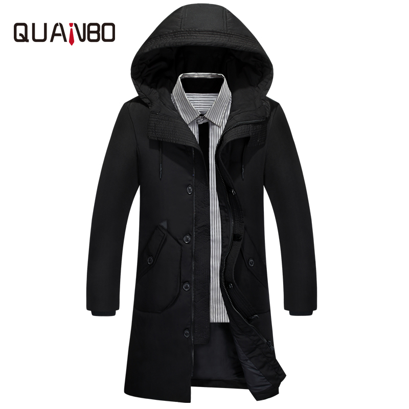 QUANBAO Thick Winter   Down   Jacket 2018 New Arrival Men Warm Fashion Brand Clothing Hight quality Long Male White Duck   Down     Coat