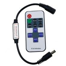 1 set מיני RF אלחוטי מרחוק שחור Led דימר בקר עבור יחיד צבע Led רצועת אור SMD5630 SMD5050 SMD3528 DC 5 v 12 v 24 v