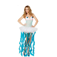 UTMEON Funny Animal Jellyfish Fantasia Carnival Party Adult Costumes Jellyfish Role Play Masquerade Dress For Wonder Woman