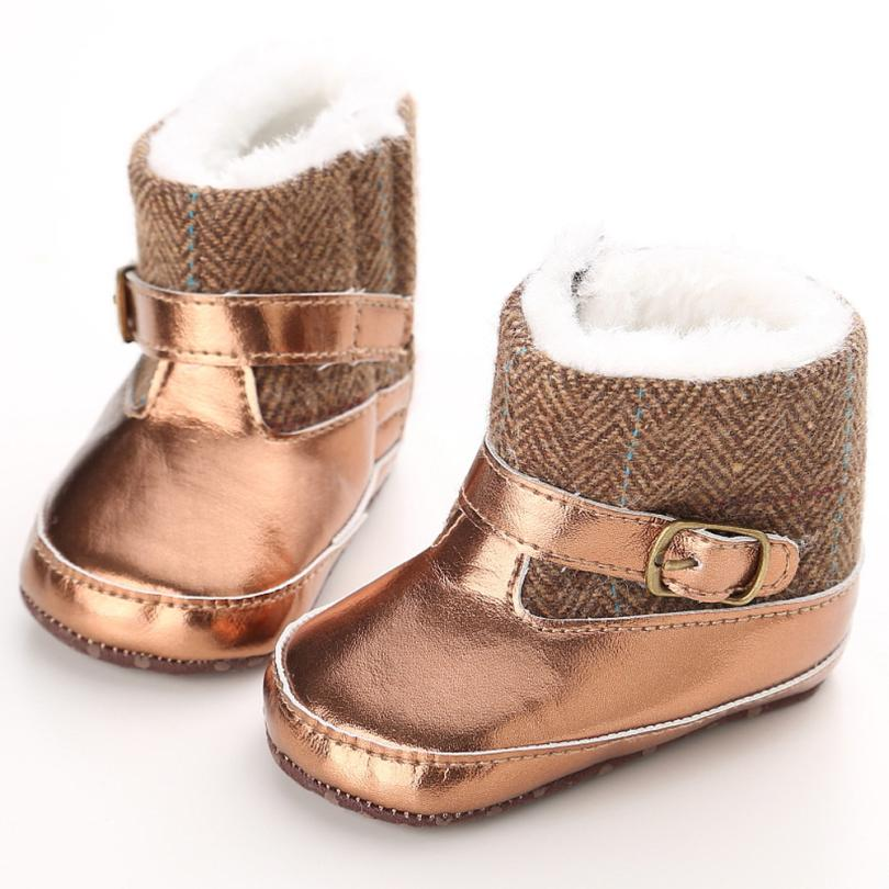 94c29e804bd4 Best buy Baby Shoes Toddler Infant Baby Girl Gold Snow Boots Soft Sole  Prewalker Crib ShoesBebek Ayakkabi Kids Shoes online cheap
