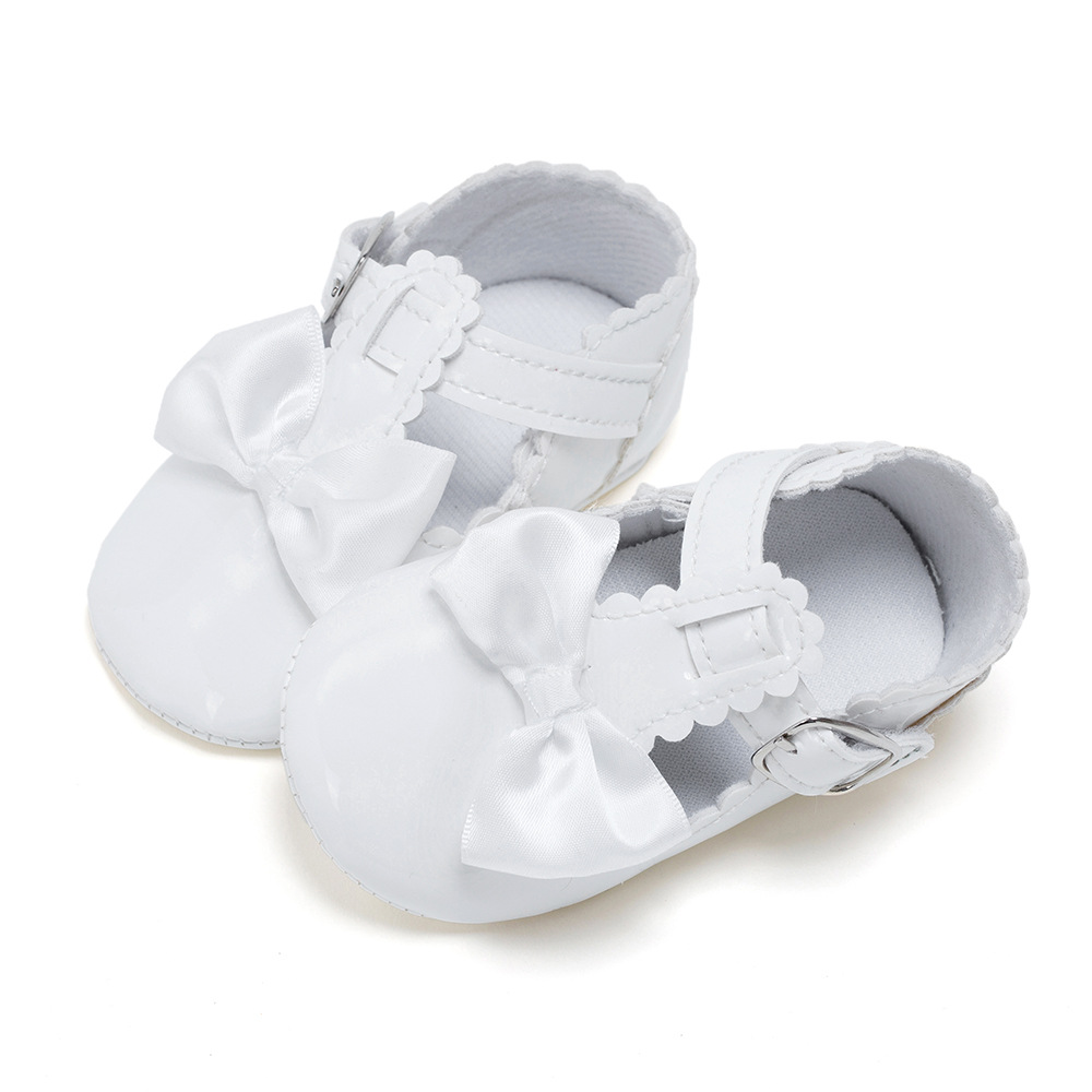 Baby Shoes Newborn Handmade Cute Princess Bow First Walkers