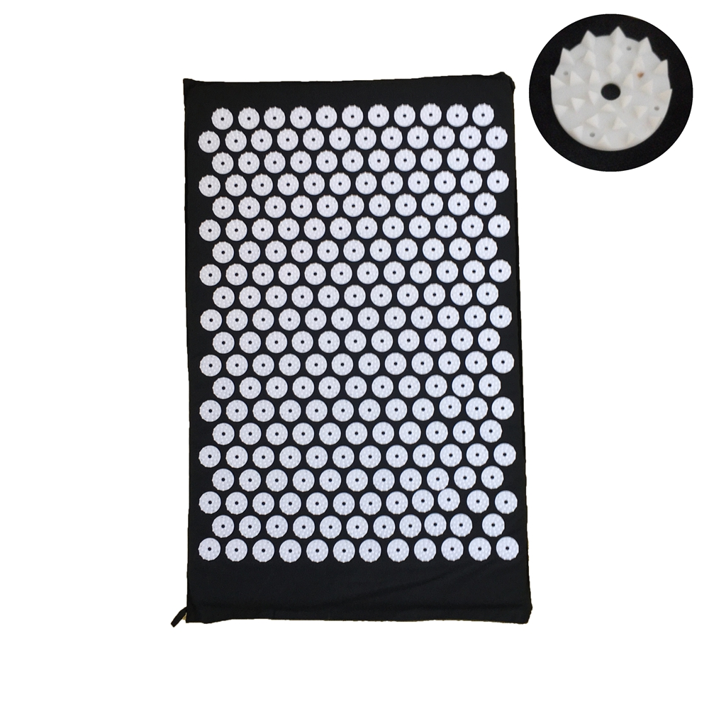 27nails/spike Acupressure Cushion Shakti Mat Head Back Massage Pad Yoga Relax Body  Massager Pain Relieve Mind Stress MP0008 hot acupressure spike yoga pillow mat relieve stress pain relief acupuncture cushion neck back shakti massager body relax