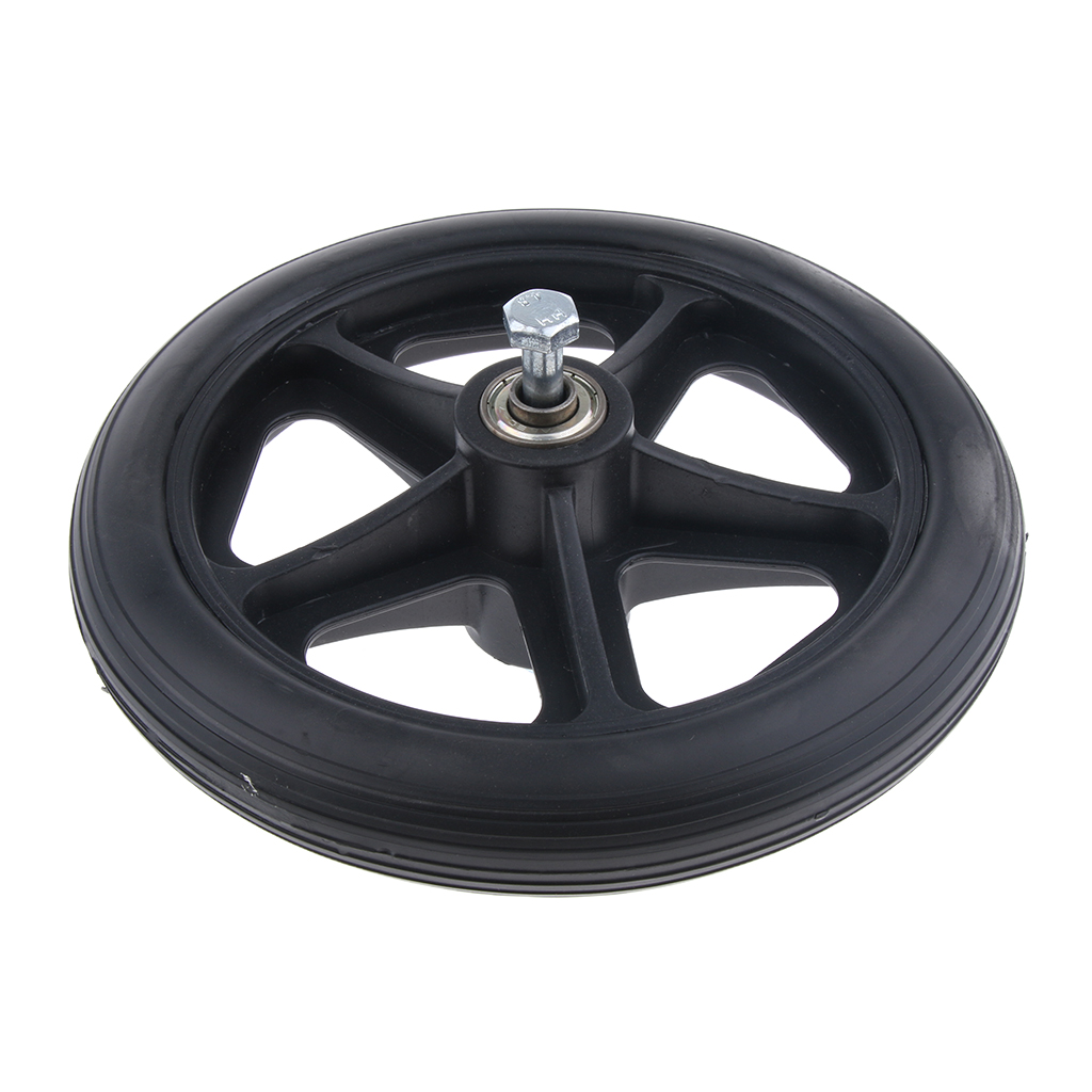 Durable Strong Alloy Frame Wheelchair Front Castor Wheels Replacement Part Tool 5 16 inch Bearing 6