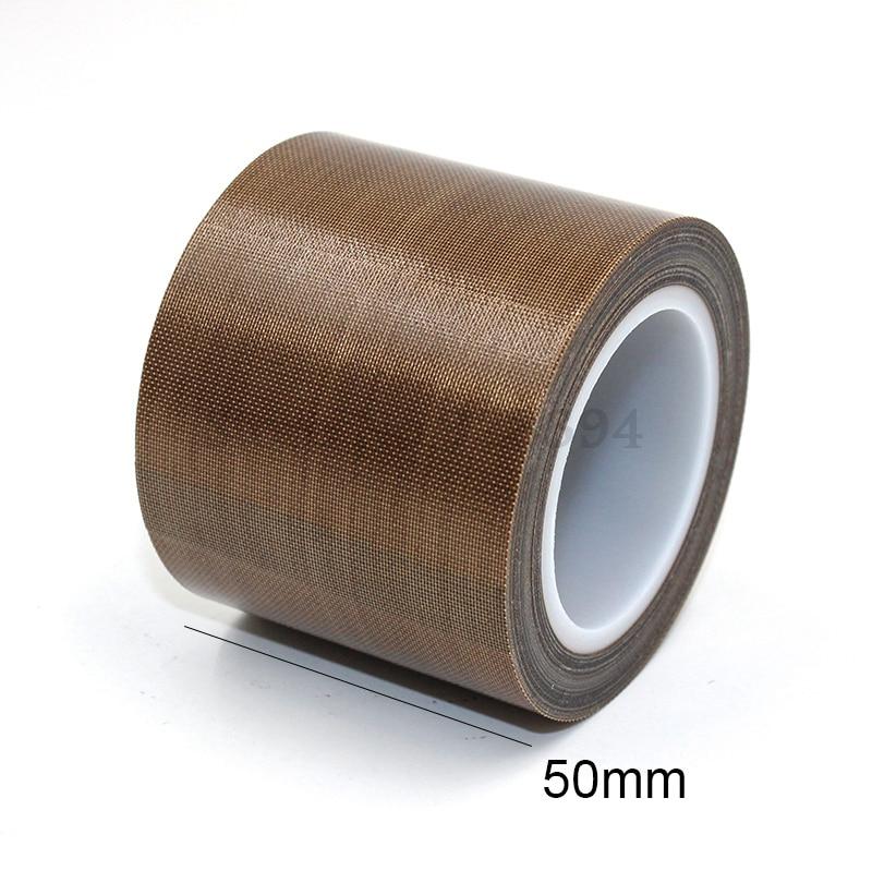20 e 50mm Nastro di Teflon adesivo in rotolo 5 metri PTFE dimensioni 10