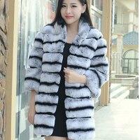 החורף החדש 2016 עור כולו ארוך שיער ארנב וטרה מעיל פרווה נשים מעיל פרווה כדי לשמור על פרווה חמה מעיל