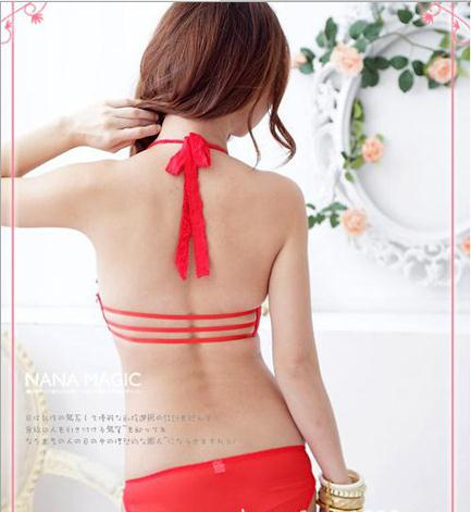 a46f0f4cad7 Hot sale Super Sexy Lace Japanese and Korean Style girls Bra Lingerie Suit  Halter Side Closure Three Hook and eye Bra 7751-in Bra   Brief Sets from ...