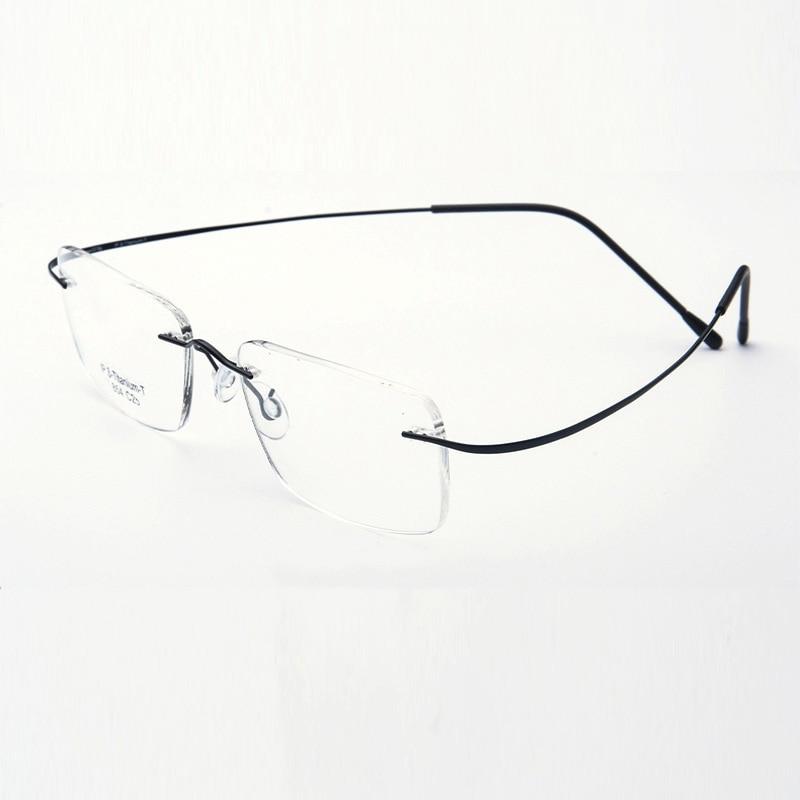 Saf Titan Gözlüklər Rimless çevik Optik Çərçivə Reçetesi - Geyim aksesuarları - Fotoqrafiya 5