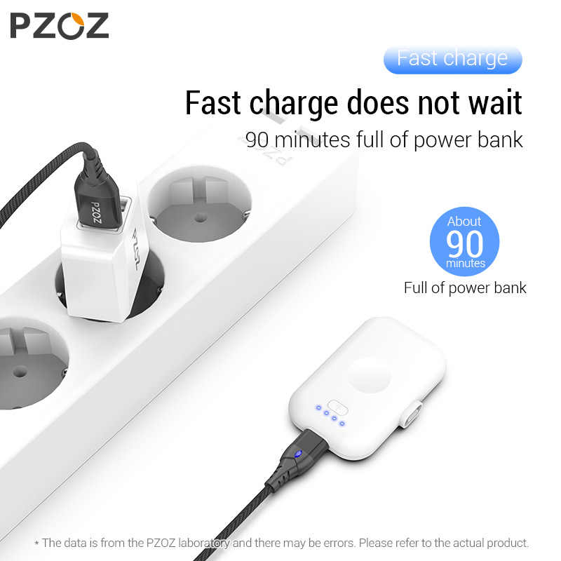 PZOZ مغنطيسيّ قوة بنك ل iPhone المصغّر usb Type C 1200mAh مصغّر مغنطيس شاحن قوة بنك ل iPhone iPad شاومي هواوي هاتف