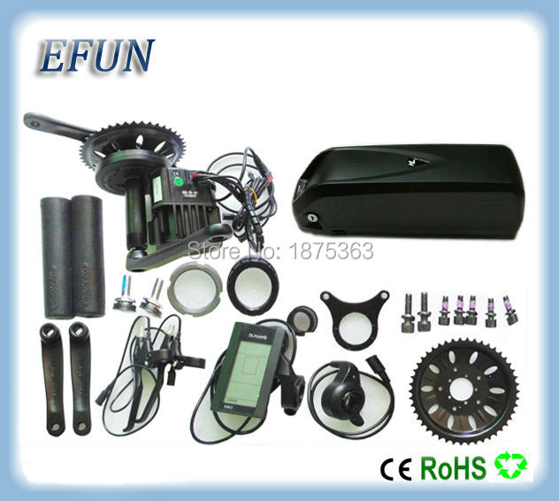52V fat bike kits BAFANG BBSHD 48V 1000W central motor kits with 52V 16Ah USB hailong down tube battery for fat tire bike