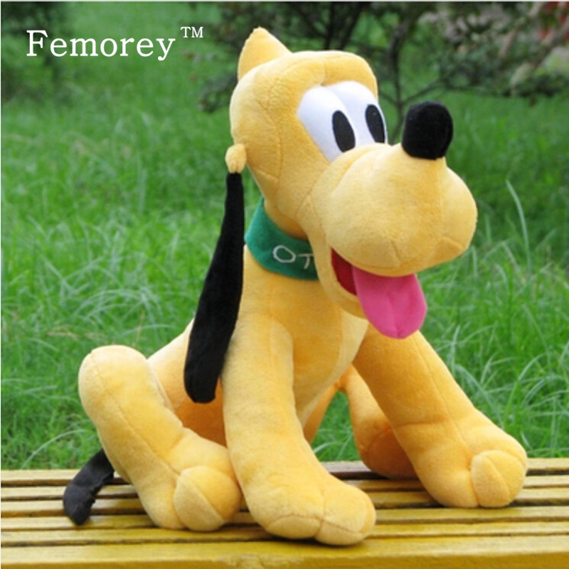цена на Kawaii 30cm Pluto Plush Toys Goofy Dog Donald Duck Daisy Duck Friend Pluto Stuffed Doll Toys Children Kids Christmas Gift