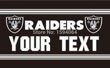 Oakland Raiders Custom Your Text Flag 3ft x 5ft Polyester NFL Team Banner Flying Size No.4 144* 96cm Custom flag