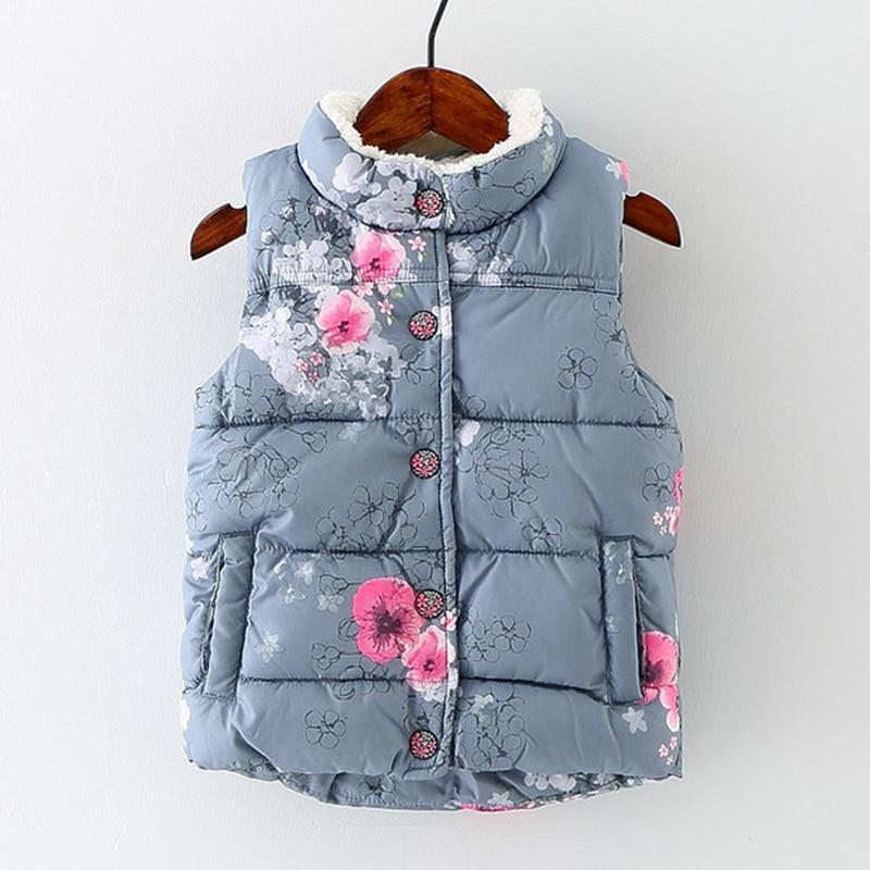 In the autumn of 2016 Korean children nubao flowers with velvet vest girls warm vest vest
