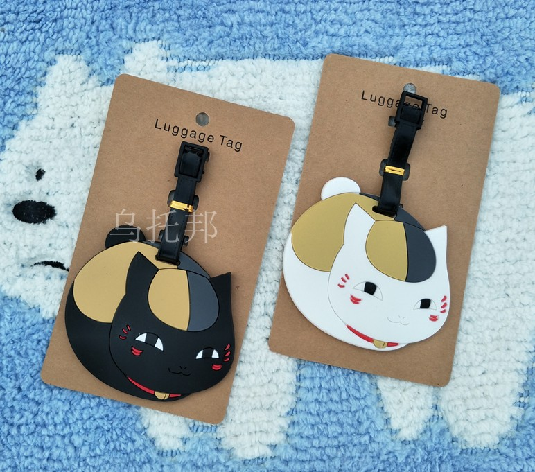 Natsume Yuujinchou Anime Travel Accessories Luggage Tag Suitcase ID Address Portable Tags Holder Baggage Label Gifts New