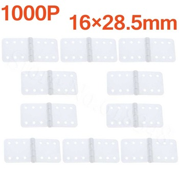 1000pcs Plastic Pinned Nylon Hinges 16x28.5 mm For Remote Control RC Airplanes Replacements Parts