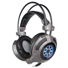 G9 профессиональные игровые наушники музыке стерео наушники с микрофоном свет объемного бас 50 мм динамик для Интернет кафе